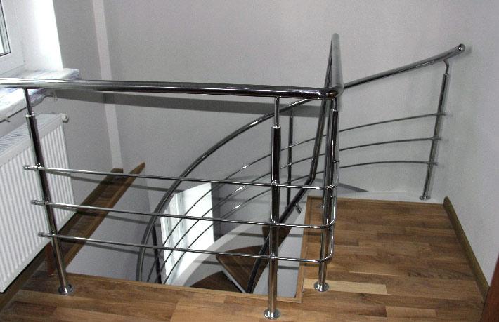 Лестница перила нержавеющие